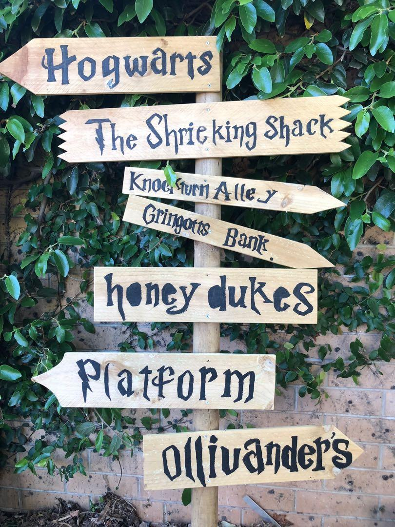 Harry Potter Garden Sign