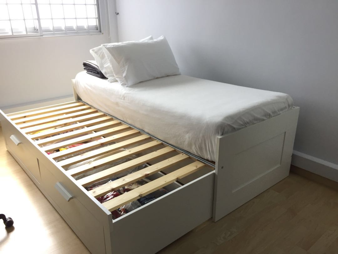 Ikea Brimnes Daybed Sofabed Furniture Beds Mattresses On Carousell