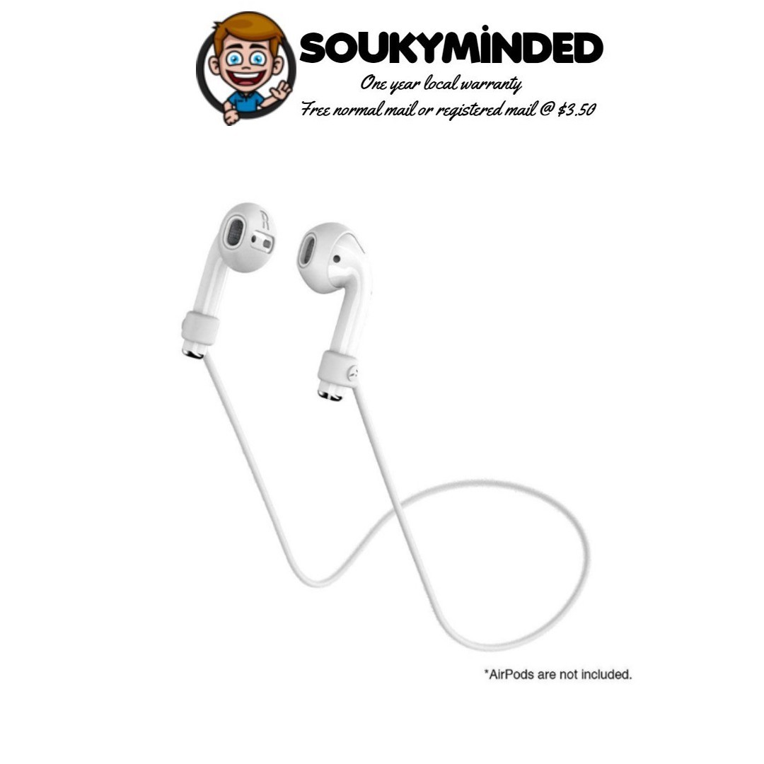 [IN-STOCK] SwitchEasy AirBuddy AirPods Strap Organizer, Earphone Covers and  Strap for Apple AirPods