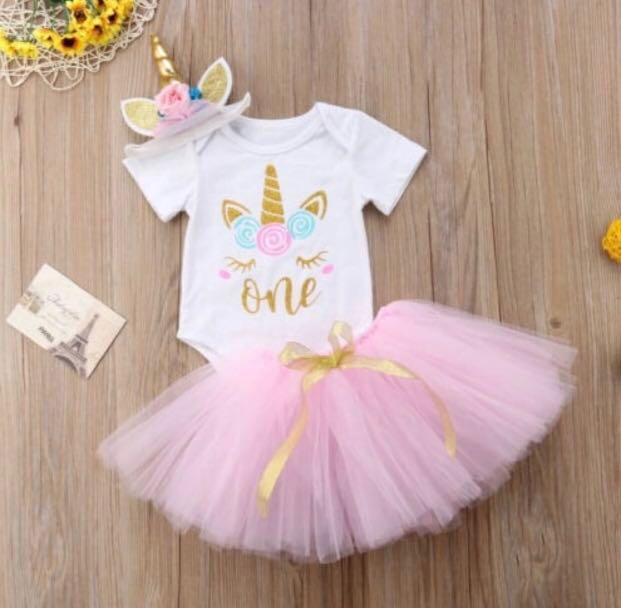 6cca37c6b176 Instock Unicorn Design Baby Girl Dress