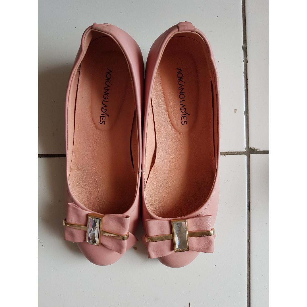 jual flat shoes wanita warna pink 1c4a5eb4e5