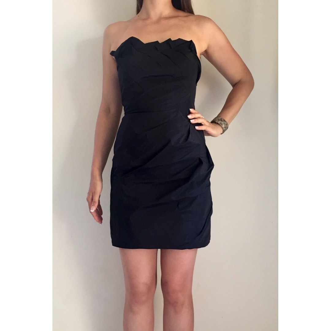 e84a964b4e KOOKAI Black Strapless Boned Bustier Formal Cocktail Mini Dress Sz ...