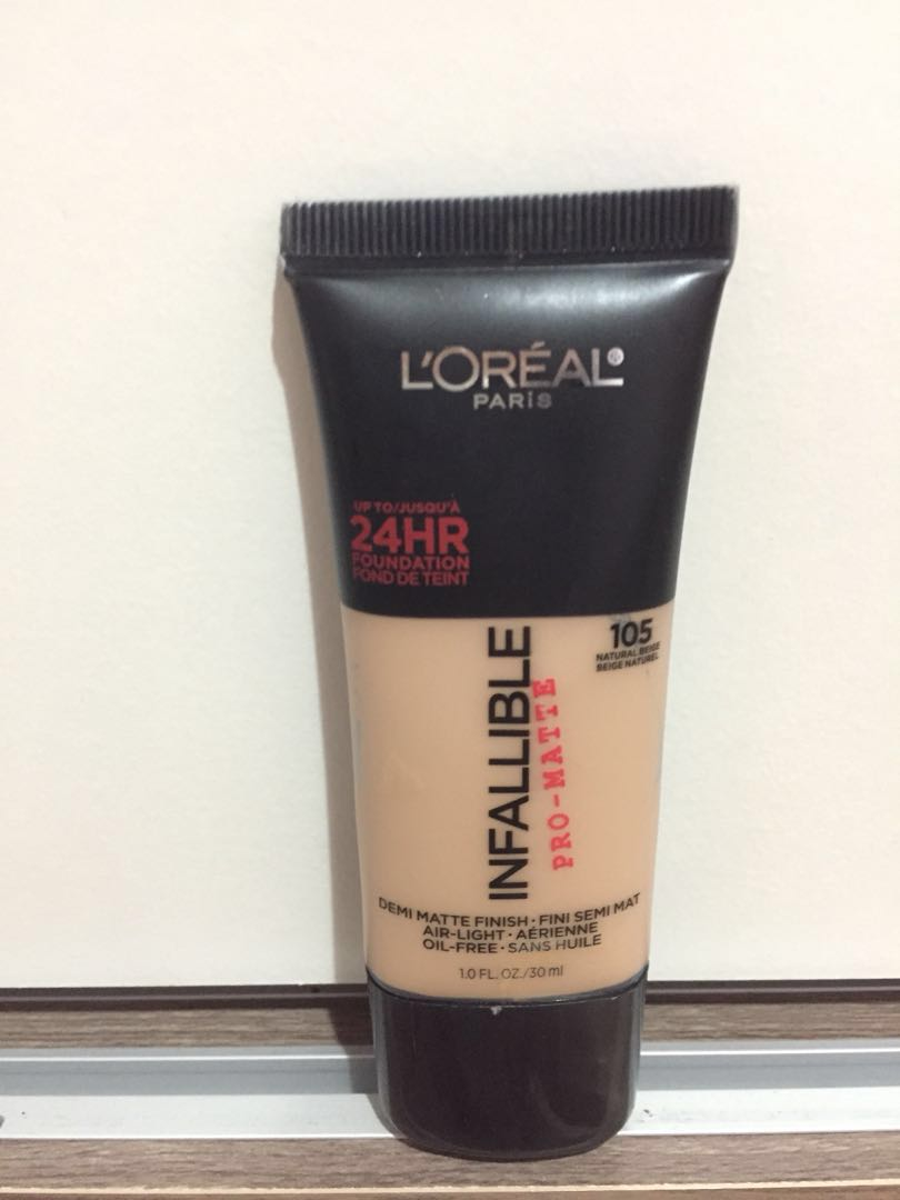 Loreal Infallible Pro Matte Foundation Shade 105 Health Beauty Makeup On Carousell