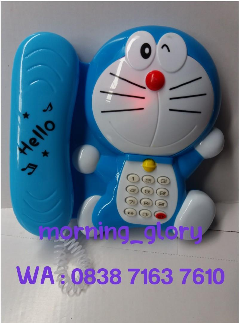 Mainan Favorit Anak Telepon Musik Music Telephone Doraemon