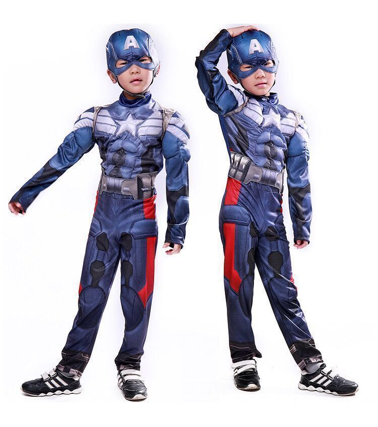 bb7d8d7fd367 Marvel superheroes Captain America Cosplay Costume The winter ...