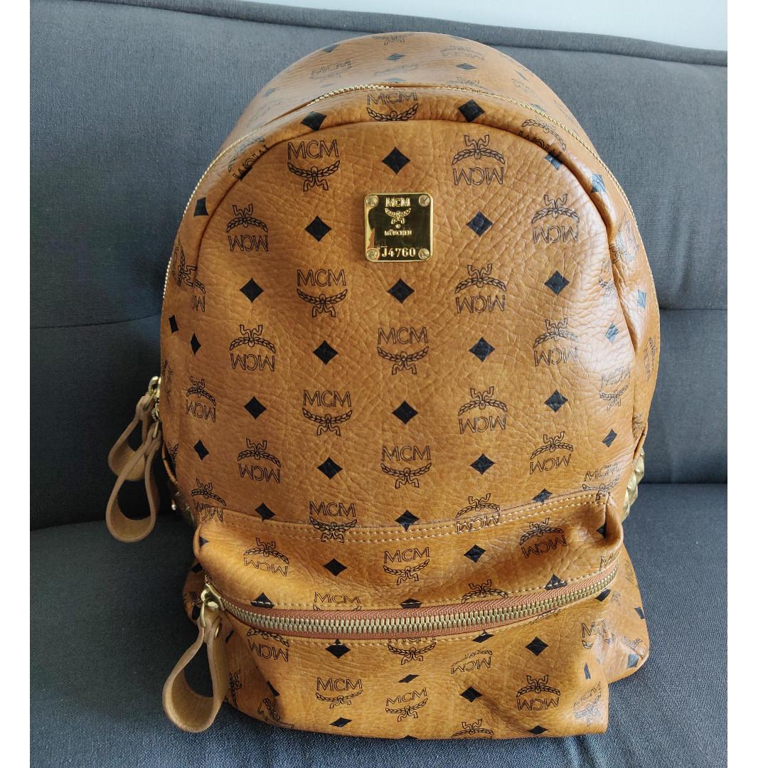40689a66748d MCM Stark Side Studs Backpack medium, Luxury, Bags & Wallets ...