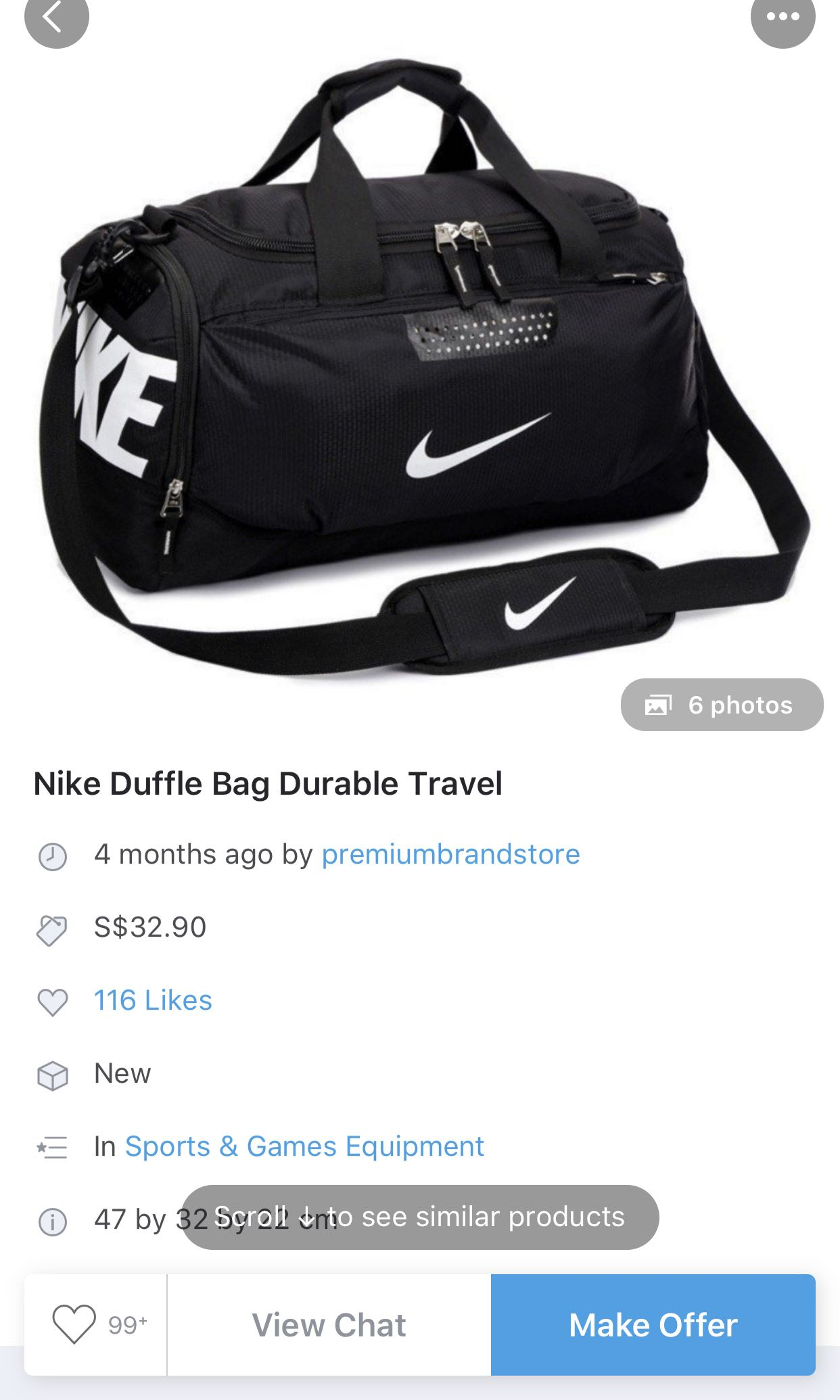 Medium Nike Duffle Bag cd12f29f2cc8e