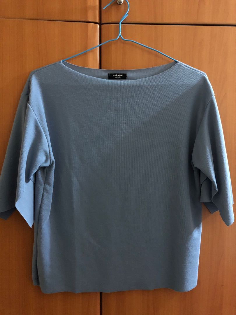 b136abb7a956 Musky Blue Sweater-like Top