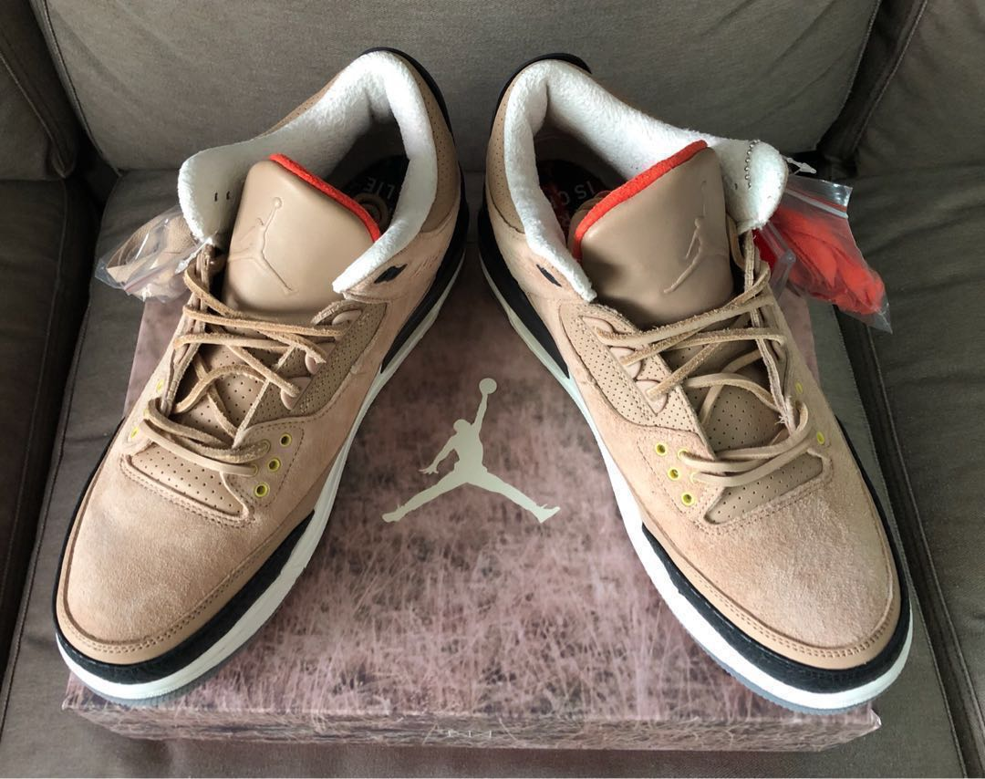 00d57b782b1 Nike Air Jordan 3 X JTH Bio Beige UK10   US11