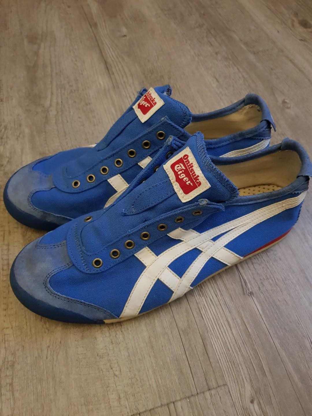 best service d2952 a99ec Onitsuka Tiger Shoes Mexico 66 slip on in blue, Men's ...