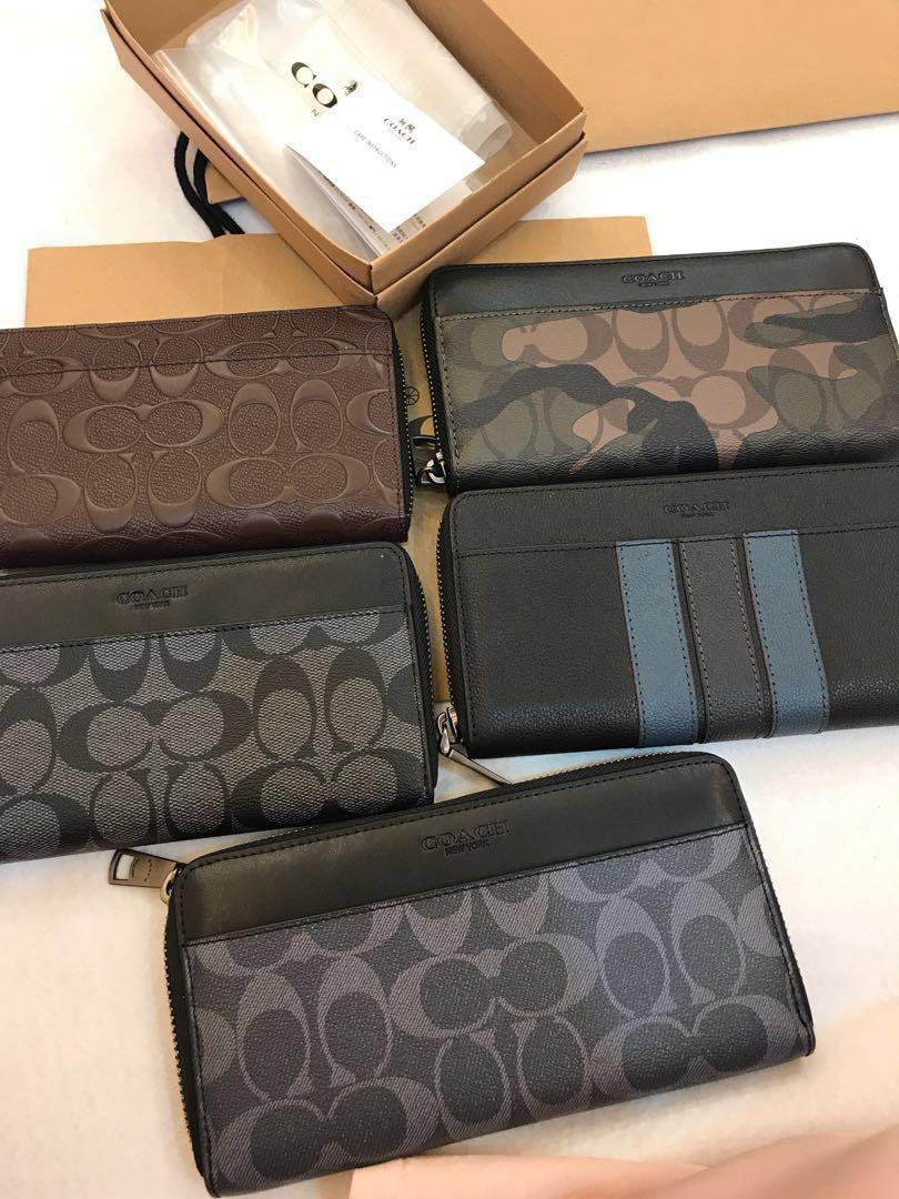 Original Coach Men Ready Stock Wallet Purse Pouch