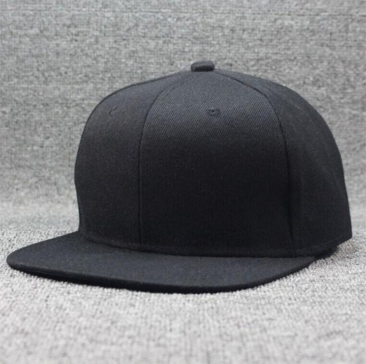 Instock   Plain Black Snapback 1ad8c6126c9