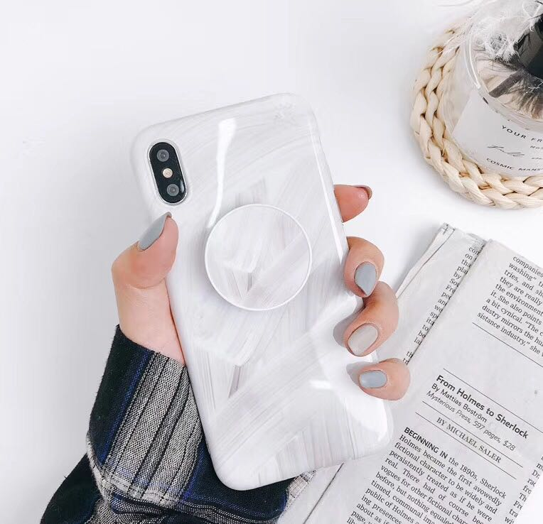 uk availability c5223 0da13 PO: Marble POPSocket iPhone Case