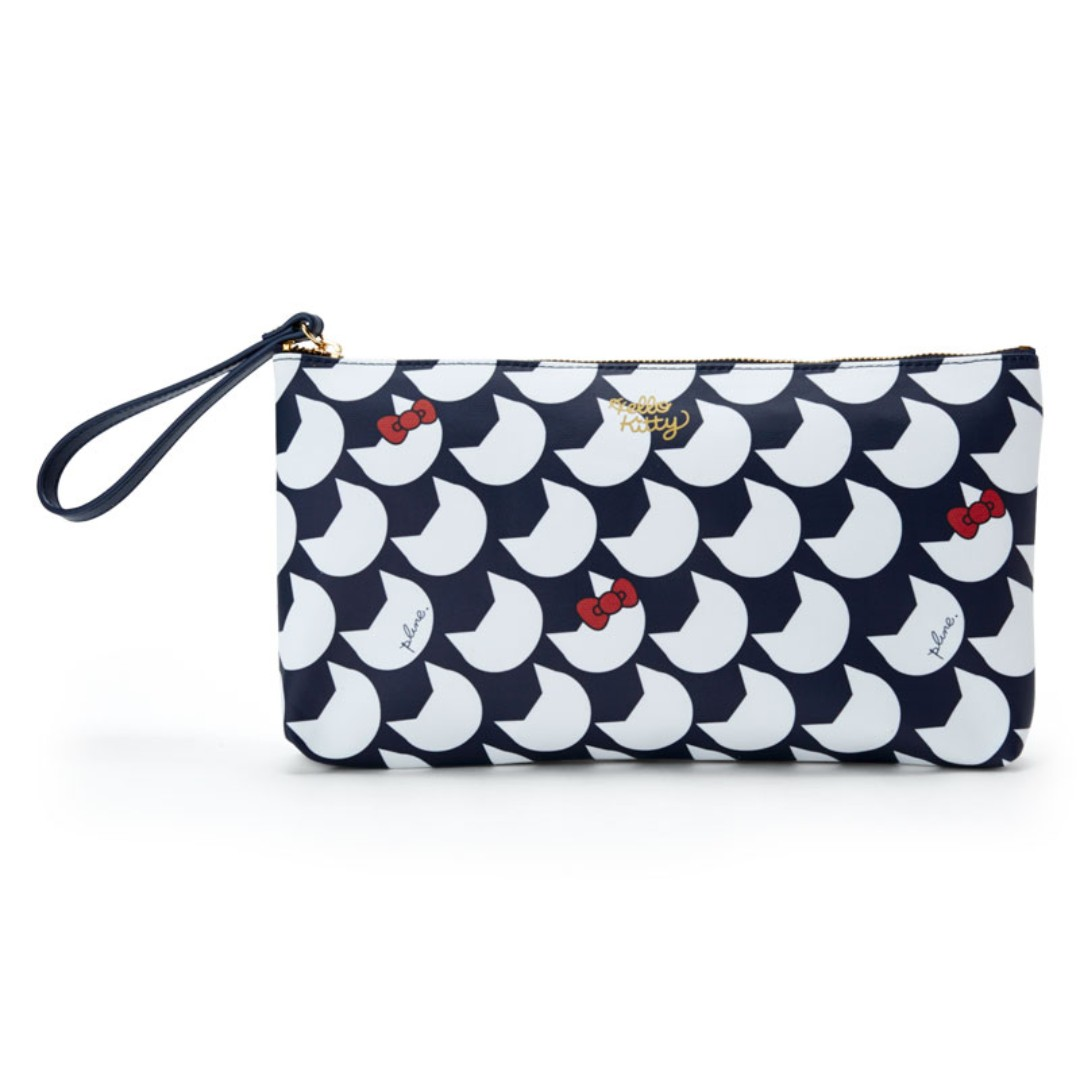 2ff4390bbb30 PO  Sanrio Japan Hello Kitty Plune Clutch Bag Navy