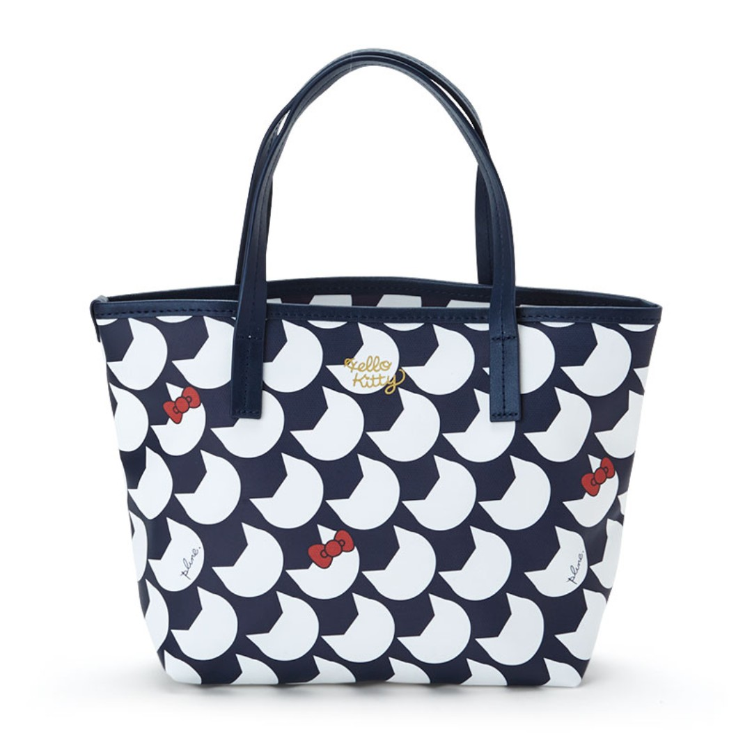 d809806048ec PO  Sanrio Japan Hello Kitty Plune Tote Bag S Navy