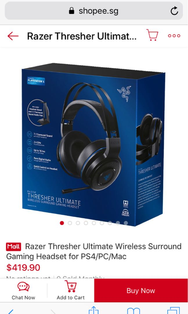 aad4aad04da Razer Thresher Ultimate for PS4/PC, Electronics, Others on Carousell