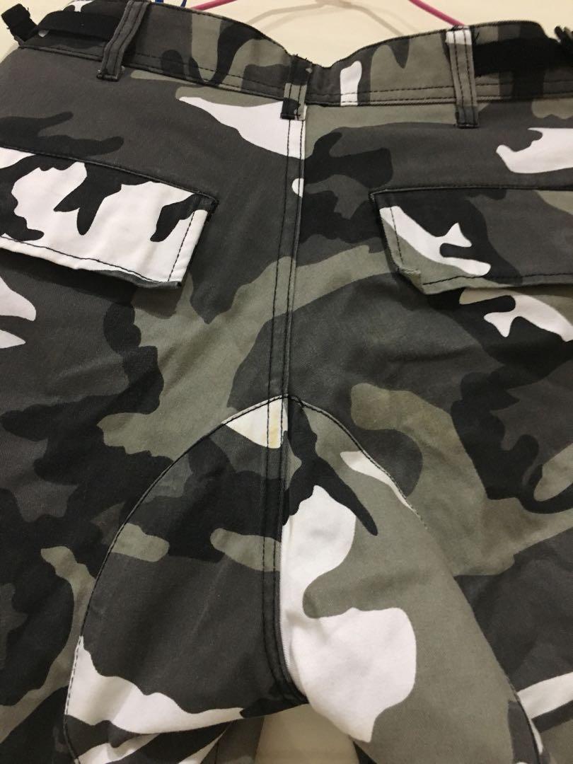 Rothco迷彩褲 黑白 工作 口袋 可縮口 美國軍用品牌