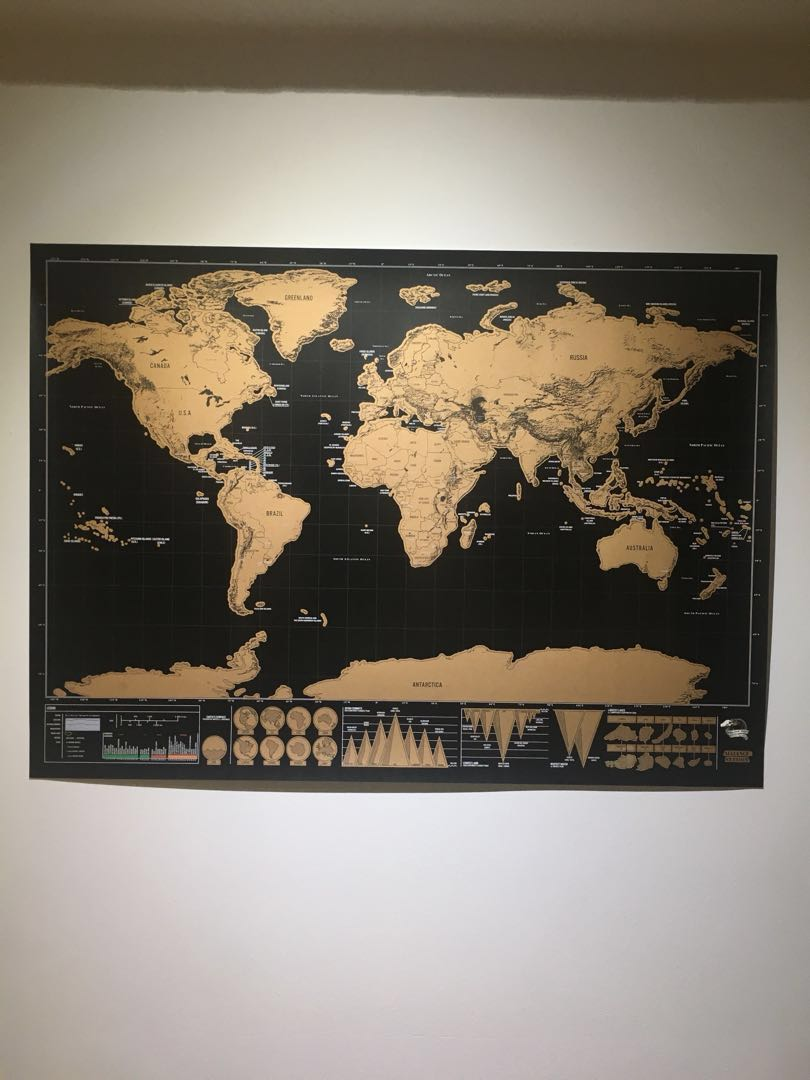 Scratch World Map Poster Everything Else On Carousell