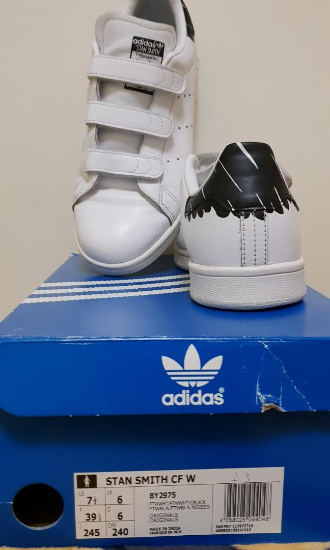 Limited Edition adidas Stan Smith Metal Blk size 6 Brand new