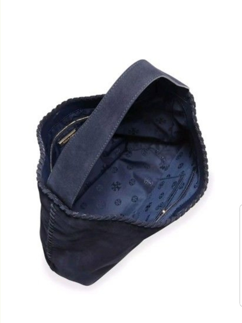 9563c51d789 Tory Burch Marion Suede Hobo Bag Navy Blue