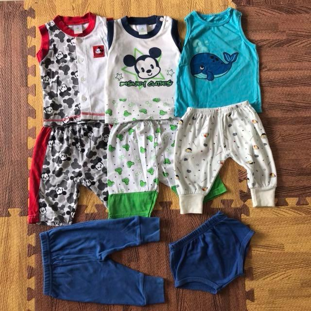T-shirts, shorts and trousers 3-6 months