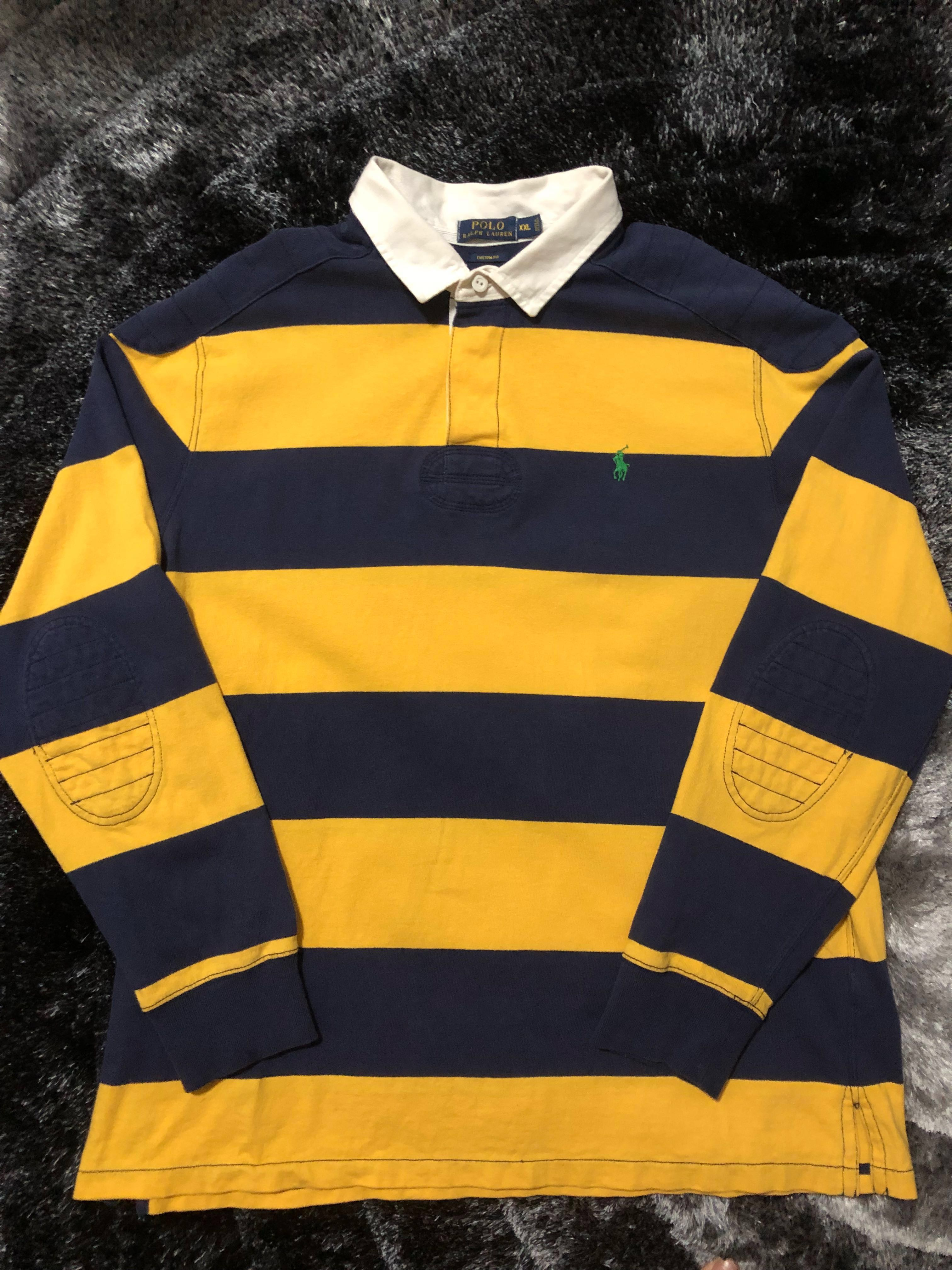 f5f5d68e Vintage Polo Ralph Lauren Rugby Shirt, Men's Fashion, Clothes, Tops on  Carousell