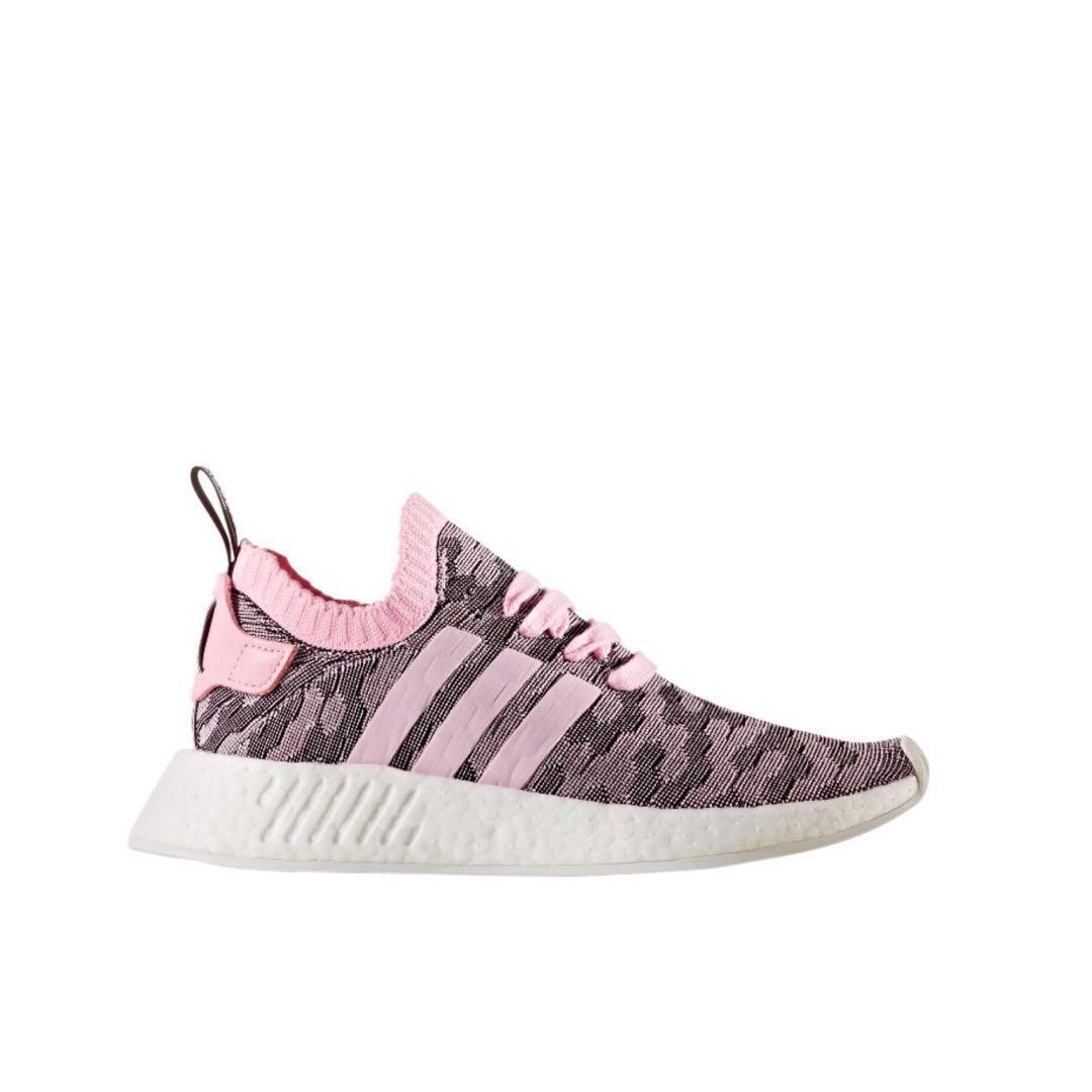 "on sale 8cf7a 68133 Women's Adidas NMD R2 Primeknit "" Black/Pink "" Casual Shoes ..."