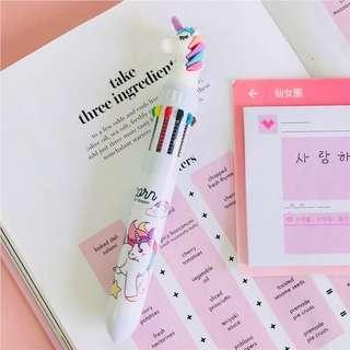 🎒現貨▪️包郵▪️🦄🌈 獨角獸 獨角馬 夢幻彩虹筆Unicorn 3D Rainbow Pen