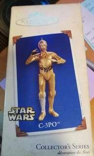 STAR WARS C3PO Christmas ornament Hallmark keepsake