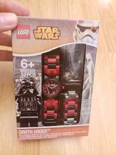 全新正版 Lego star wars 男童手錶 有2條帶 及送一隻lego