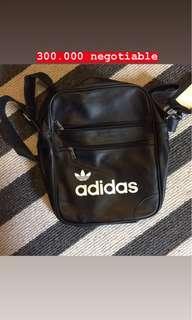 Adidas leather mini sling bag