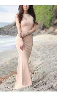 Long dress prewed gown