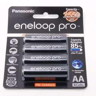 NEW Panasonic Eneloop Pro AABattery 4 Pcs Pack - MADE IN JAPAN