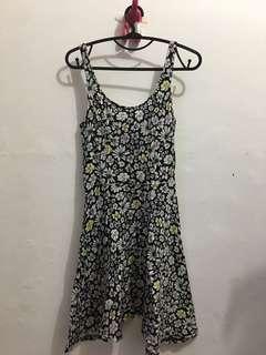 Floral Black Dress - PRELOVED