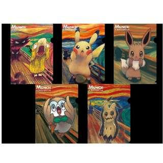 Munch x Pokemon Scream Series A4 Clearfile (Pre-Order)