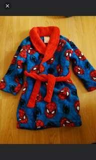 全新正版 disney marvel 蜘蛛俠 男童睡衣 睡袍 外套