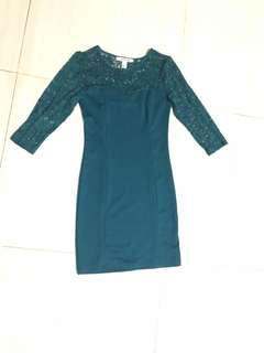 Forever 21 lace dress green