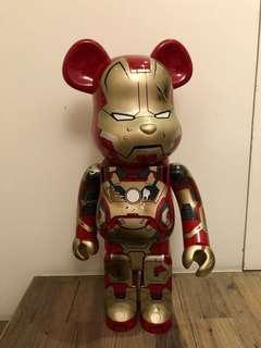 Bearbrick 1000% Ironman 損戰版 (有盒)