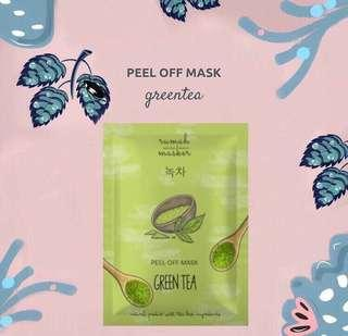 Peel off mask green tea
