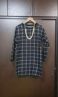 Checkered Boyfriend Shirt Dress
