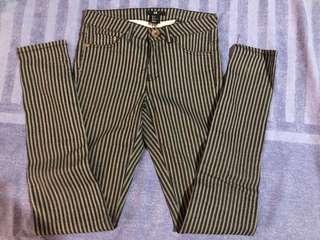 H&M Striped jeans