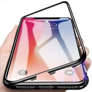 Magnetic iPhone Case w tampered glass front and back