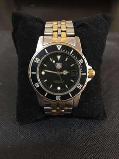 LOW‼️Vintage Tag Heuer 1000 Series Professional 2-Tone Datejust 200M  Diver's Watch