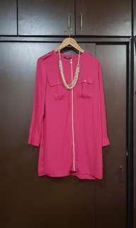 Pink Zipper Dress