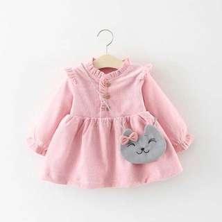 Baby Girl Dress Pink Long Sleeves