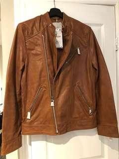 Small/medium ZARA leather jacket