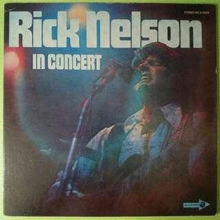 "【舊版""Rock""黑膠唱片】Rick Nelson ~ Rick Nelson In Concert (1970 Japan)【見本盤】"