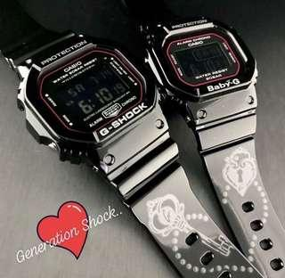 COUPLE💝SET in BABYG GSHOCK DIVER SPORTS CASIO WATCH : 1-YEAR OFFICIAL WARRANTY: 100% ORIGINAL AUTHENTIC BABY-G-SHOCK in ABSOLUTELY TOUGHNESS Best Gift For Most Rough Users : SLV-18B-1DR / SLV18B / SLV-18 / SLV18 / SLV18B-1DR / SLV18B-1D / GSHOCK BABYG