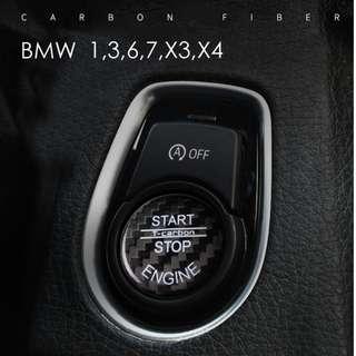 T-Carbon® Carbon Fibre Push Start button for BMW X3,X4,1,3,6,7 Series