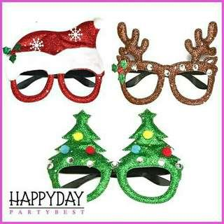 chrsitmas xmas glasses glitter foam. sold per pc